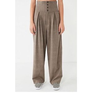 SILENCE + NOISE high waisted button trouser Pants.